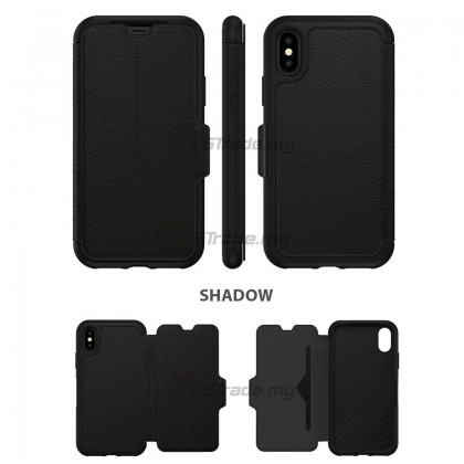 OTTERBOX Strada Folio Premium Leather Case Apple Iphone X Espresso *Free Gift