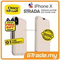 OTTERBOX Strada Folio Premium Leather Case Apple Iphone X Soft Opal *Free Gift