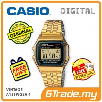 CASIO STANDARD A159WGEA-1 Digital Watch | Vintage Alarm Auto Calendar
