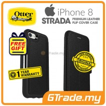 OTTERBOX Strada Folio Premium Leather Case Apple Iphone 8 7 Onyx