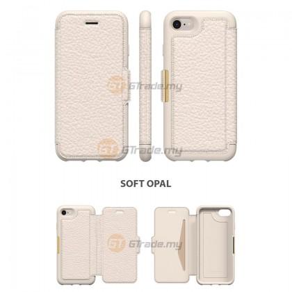 OTTERBOX Strada Folio Premium Leather Case Apple Iphone 8 7 Soft Opal *Free Gift