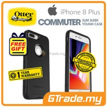 OTTERBOX Commuter Dual Layer Tough Case Apple Iphone 8 7 Plus Black *Free Gift