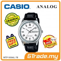 CASIO STANDARD MTP-V006L-7BV Analog Mens Watch | Leather Day Date