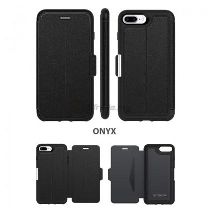 OTTERBOX Strada Folio Premium Leather Case Apple Iphone 8 7 Plus Onyx *Free Gift