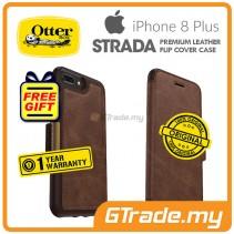 OTTERBOX Strada Folio Premium Leather Case Apple Iphone 8 7 Plus Espresso *Free Gift