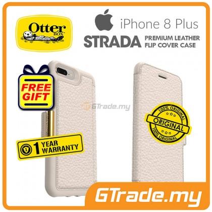 OTTERBOX Strada Folio Premium Leather Case Apple Iphone 8 7 Plus Soft Opal *Free Gift
