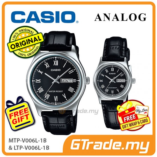 [READY STOCK] CASIO STANDARD MTP-V006L-1BV & LTP-V006L-1BV Analog Couple Watch