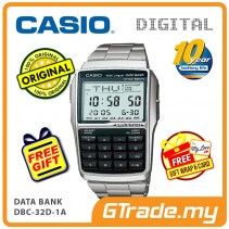 [READY STOCK] CASIO DATA BANK DBC-32D-1A Digital Watch | Calculator 10 Years Batt.