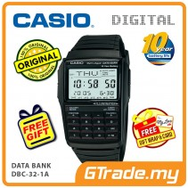 [READY STOCK] CASIO DATA BANK DBC-32-1A Digital Watch | Calculator 10 Years Batt.