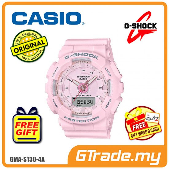 CASIO G-SHOCK GMA-S130-4A Ladies Analog Digital Watch | Step Tracker