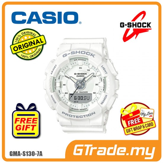 CASIO G-SHOCK GMA-S130-7A Ladies Analog Digital Watch | Step Tracker