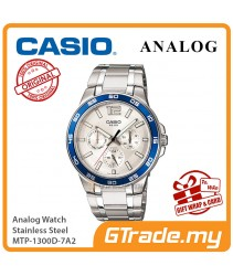 CASIO MEN MTP-1300D-7A2 Analog Watch | Multi Hand 3-Dial Design