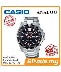 CASIO MEN MTD-1079D-1A3 Analog Watch | Super illuminator Steel Case