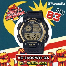 [READY STOCK] CASIO MEN AE-1400WH-9A Digital Watch | World Map