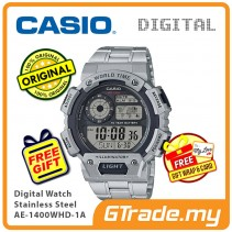 CASIO MEN AE-1400WHD-1A Digital Watch | World Map