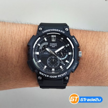 CASIO MEN MCW-200H-1A Chronograph Watch | Smart Design [READY STOCK]