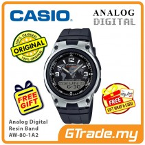 CASIO MEN AW-80-1A2 Analog Digital Watch | Wolrd Time 10Yrs Batt [PRE]