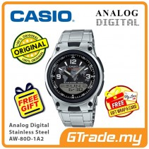 CASIO MEN AW-80D-1A2 Analog Digital Watch | Wolrd Time 10Yrs Batt [PRE]