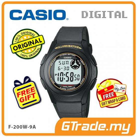 [READY STOCK] CASIO STANDARD F-200W-9A Digital Watch | Classic Simple Young Design