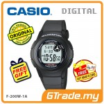 [READY STOCK] CASIO STANDARD F-200W-1A Digital Watch | Classic Simple Young Design