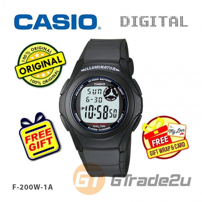 [READY STOCK] CASIO STANDARD F-200W-1A Digital Watch | Classic Simple Young Design