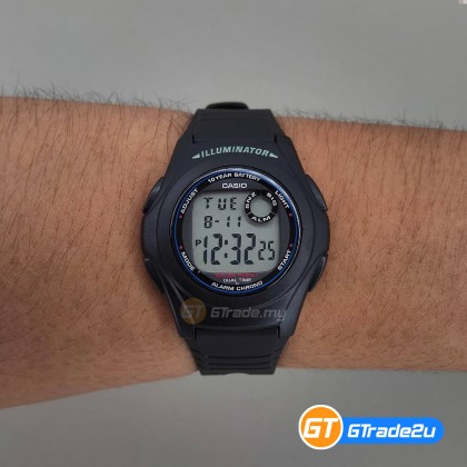 [READY STOCK] CASIO STANDARD Men F-200W-1A Digital Dual Time Watch Black Resin Band watch for man . jam tangan lelaki . men watch . watch for men . casio watch for men . casio watch