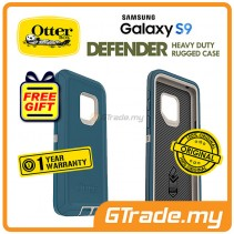 OTTERBOX Defender Belt Clip Holster Case Samsung Galaxy S9 Big Sur Blue *Free Gift