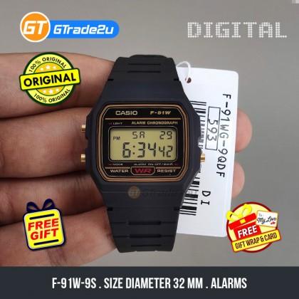 [READY STOCK] CASIO STANDARD F-91WG-9S Digital Watch   Classic Since 1991 Calendar
