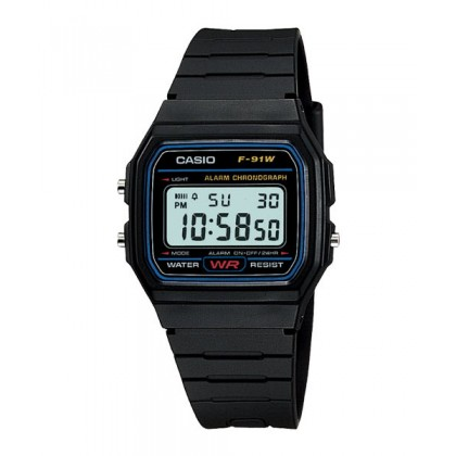 [READY STOCK] CASIO STANDARD F-91W-1S Digital Watch | Classic Since 1991 Calendar