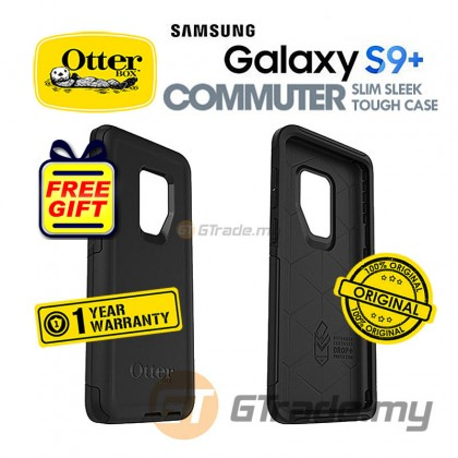 OTTERBOX Commuter Dual Layer Tough Case Samsung Galaxy S9 Plus Black *Free Gift