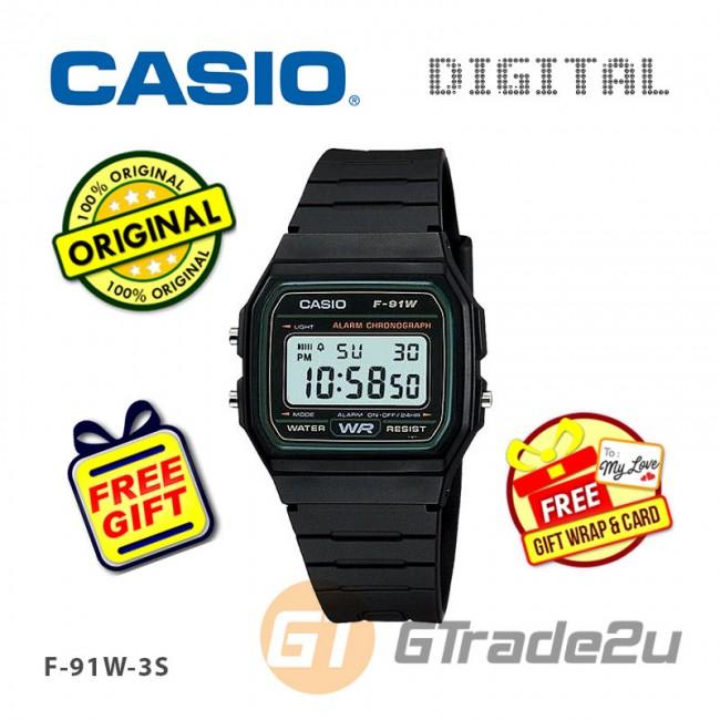 [READY STOCK] CASIO STANDARD F-91W-3S Digital Watch   Classic Since 1991 Calendar