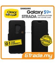 OTTERBOX Strada Folio Premium Leather Case Samsung Galaxy S9 Plus Shadow Black