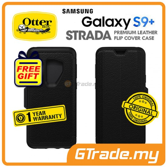 OTTERBOX Strada Folio Premium Leather Case Samsung Galaxy S9 Plus Shadow Black