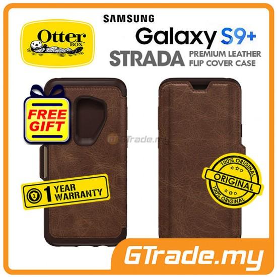 OTTERBOX Strada Folio Premium Leather Case Samsung Galaxy S9 Plus Espresso