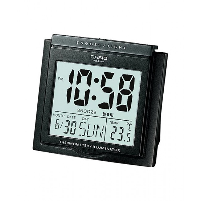 CASIO ALARM DQ-750F-1D Digital Alarm Clock | Thermometer Light