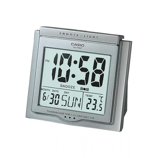 CASIO ALARM DQ-750F-8D Digital Alarm Clock   Thermometer Light