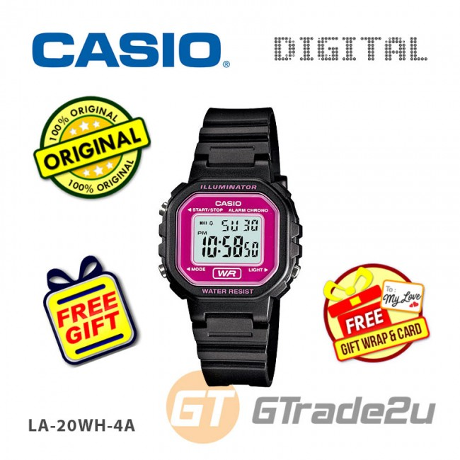 [READY STOCK] CASIO Kids Ladies LA-20WH-4AV Digital Watch |Small Cute Petit