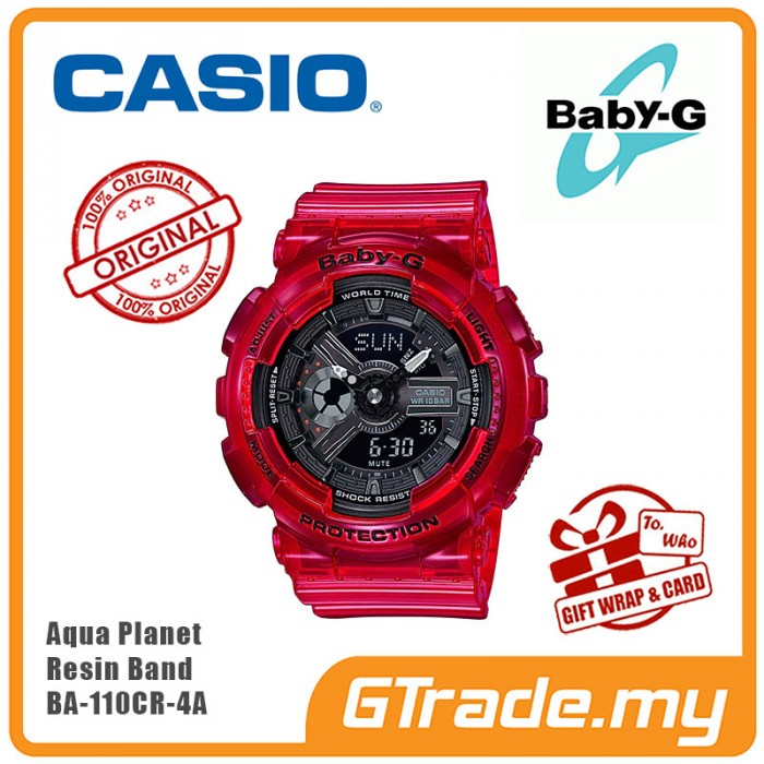 0ec4157196e0 CASIO BABY-G AQUA PLANET BA-110CR-4A Analog Digital Watch  PRE
