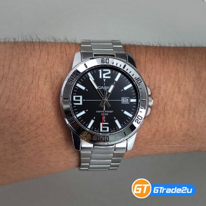 [READY STOCK] CASIO MEN MTP-VD01D-1B Analog Watch | Date Display