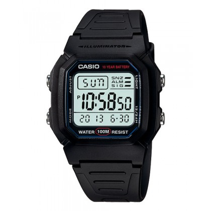 [READY STOCK] CASIO STANDARD W-800H-1AV Digital Watch | Classic Look 10Y Batt.