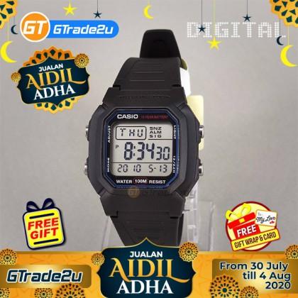 [READY STOCK] CASIO STANDARD W-800H-1AV Digital Watch   Classic Look 10Y Batt.
