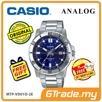 [READY STOCK] CASIO MEN MTP-VD01D-2E Analog Watch | Date Display