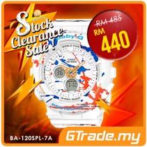#SALE CASIO Ladies BABY-G BA-120SPL-7A Digital Watch Street Splatter Design