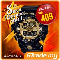 #SALE CASIO G-SHOCK GA-710GB-1A Digital Analog Watch | Bold Tough Design