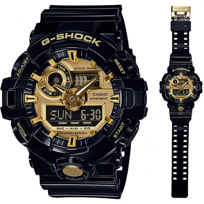 #SALE CASIO G-SHOCK GA-710GB-1A Digital Analog Watch | Bold Tough Design