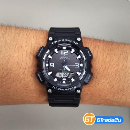 Casio Standard Men AQ-S810W-1A AQS810W-1A Analog Digital Tough Solar Watch Black Resin Band watch for man . jam tangan lelaki . casio watch for men . casio watch . men watch . watch for men [READY STOCK]