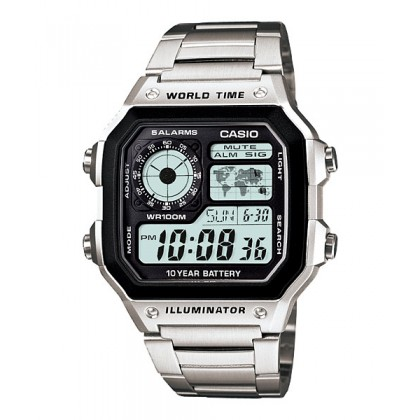 [READY STOCK] CASIO STANDARD AE-1200WHD-1AV Digital Watch | 10Y Batt. Wolrd.T