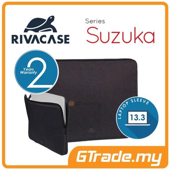 RIVACASE Suzuka Laptop Sleeve Bag Apple MacBook Air Pro 13 Black