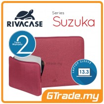 RIVACASE Suzuka Laptop Sleeve Bag Apple MacBook Air Pro 13 Red