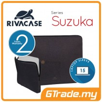 RIVACASE Suzuka Laptop Sleeve Bag Apple MacBook Air Pro 15 Black
